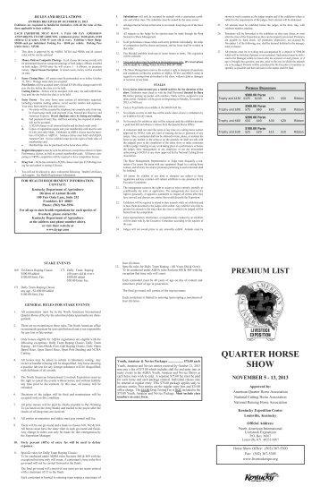 QUARTER HORSE SHOW - North American International Livestock ...