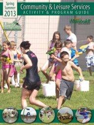Spring & Summer 2013 … Community & Leisure ... - City of Humboldt