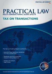 tax on transactions - P+P Pöllath + Partners