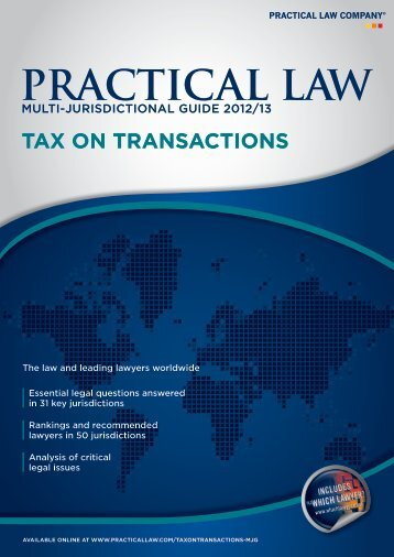 tax on transactions - P+P Pöllath + Partners
