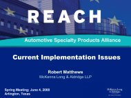 US - Automotive Specialty Products Alliance