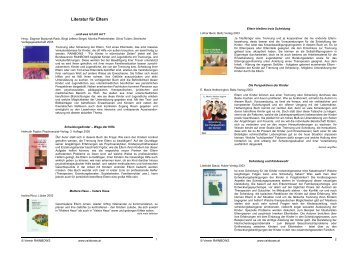 Literatur für Eltern - Rainbows