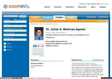 ZoomInfo - UCLA Human Genetics