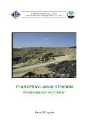 plan upravljanja otpadom - Federalno ministarstvo okoliša i turizma