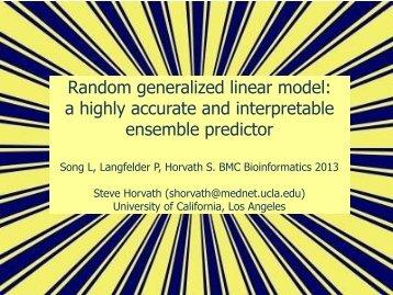 Random generalized linear model - UCLA Human Genetics