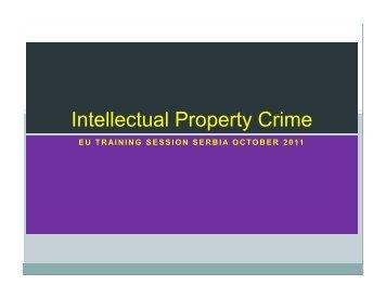 Intellectual Property Crime