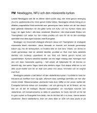 NFU lektion - EFS Mittsverige