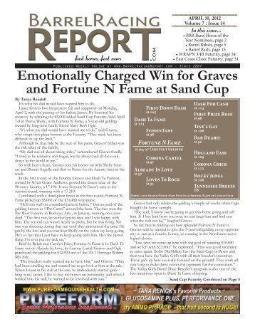 Emotionally Charged Win for Graves and ... - Barrel Racing Report
