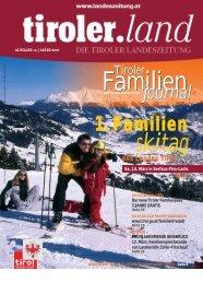AUSGABE 1a | MÄRZ 2009 - Tirol - Familienpass