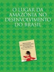 O lugar da Amazônia no desenvolvimento
