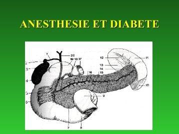 ANESTHESIE ET MALADIE ENDOCRINE