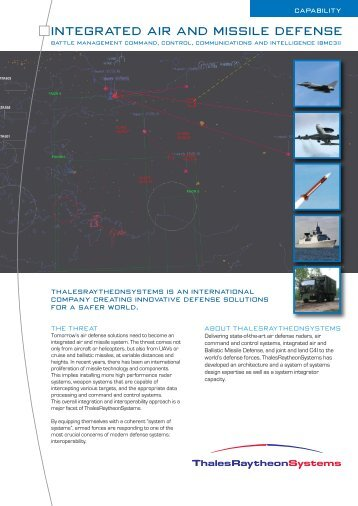 Integrated Air and Missile Defense - ThalesRaytheonSystems