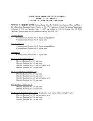 notice of candidate filing period for elective office