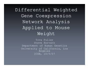 Differential Weighted Gene Coexpression Network Analysis ... - UCLA