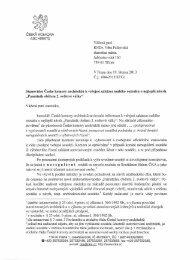 Stanovisko - Česká komora architektů