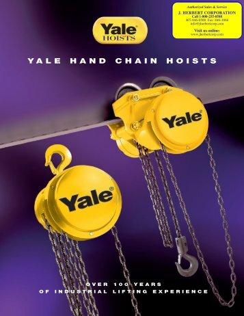 Yale·Lift-Tech® Hand Chain Hoists Brochure