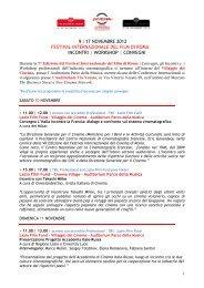 workshop | convegni - Festival Internazionale del Film di Roma