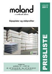 2011 Gipsplater og stålprofiler - Moland