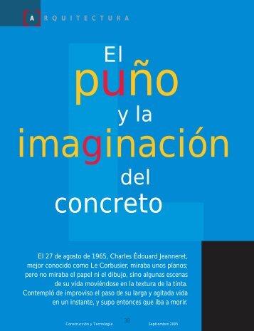 El puño y la imaginación del concreto.