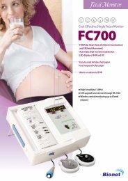 Bionet Fetal Monitor FC 700 Brochure - Discount Cardiology