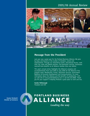 2005/06 Annual Review - Portland Business Alliance