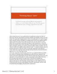 Case Study of John, an 11 year old boy in residential treatment ...