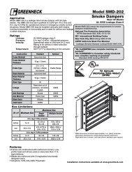 Model SMD-202 Smoke Dampers - Greenheck