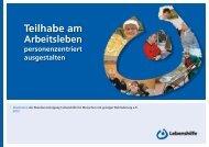 Teilhabe am Arbeitsleben personenzentriert ausgestalten (pdf - 1.1 ...