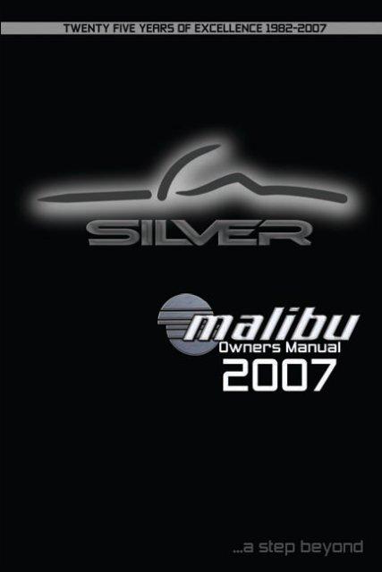 Malibu Boats Owner's Manual: 2007 (PDF) - Bakes Online