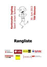 Rangliste Kantonaler Jugitag 2013 online - TSV Steinen