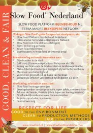 de flyer - Slow Food Nederland