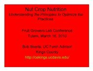 Nut Crop Nutrition: Principles & Practices for ... - Kings County