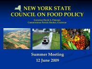nys council on food policy - new york state council on food policy