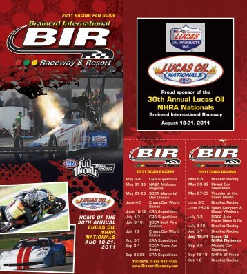 30th Annual Lucas Oil NHRA Nationals - Central  Roadracing ...