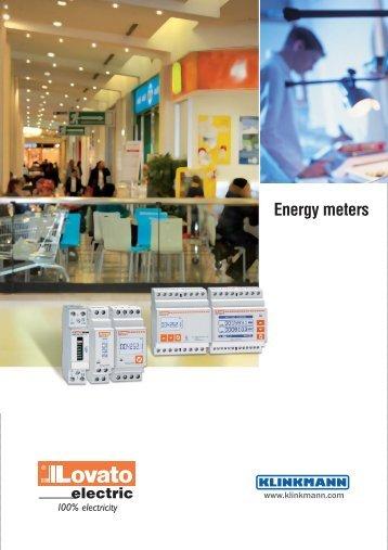 Energy meters / Leaflet - Klinkmann.