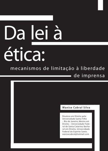mecanismos de limitação à liberdade de imprensa - Faculdade Social