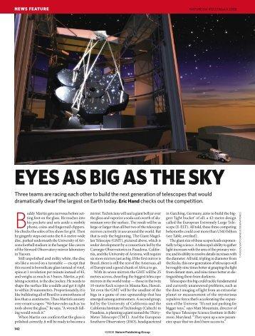 Eyes As Big As The Sky - Thirty Meter Telescope