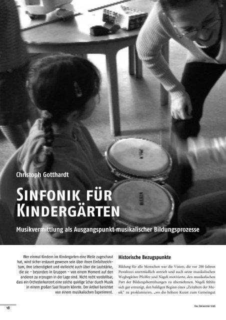 Christoph Gotthardt Sinfonik für Kindergärten ... - Das Orchester