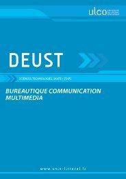 DEUST Bureautique Communication et multimédia - Université du ...