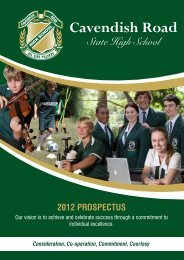 Prospectus - Cavendish Road State High School - Education ...