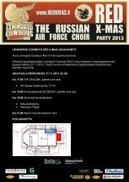 LENINGRAD COWBOYS RED X-MAS ASIAKASINFO ... - Festago