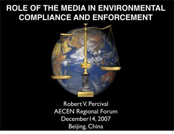 ROLE OF THE MEDIA IN ENVIRONMENTAL ... - AECEN