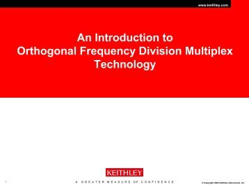 An Introduction to Orthogonal Frequency Division Multiplex - Ieee.li