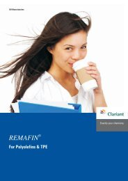 REMAFIN For Polyolefins & TPE - Clariant