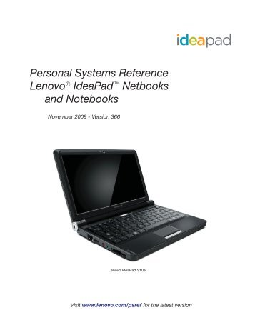 Personal Systems Reference Lenovo Ideapad Netbooks and ...