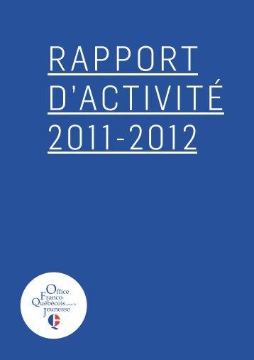Rapport d'activité 2011-2012 - LOJIQ