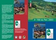 l'été au Parc 2003 - Parc naturel régional des Ballons des Vosges