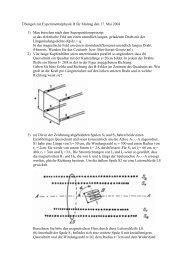 Übungen zur Experimentalphysik II für Montag den 17. Mai 2004 1 ...