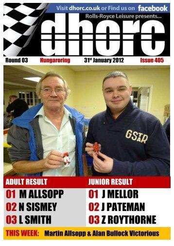 The Derby H:O Racing Club Editorial…….405 -  dhorc