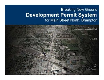 Development Permit System Main Street North - City of Mississauga